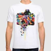 Paint DSLR Mens Fitted Tee Ash Grey SMALL