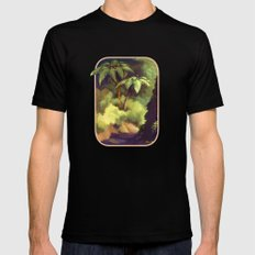 Fern Gully SMALL Black Mens Fitted Tee