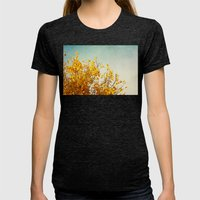 Autumn Yellow Womens Fitted Tee Tri-Black SMALL