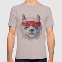 Panda Mens Fitted Tee Cinder SMALL