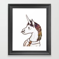 Doctor Unicorn Framed Art Print