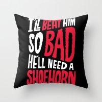 Muhammad Ali: Shoehorn Throw Pillow