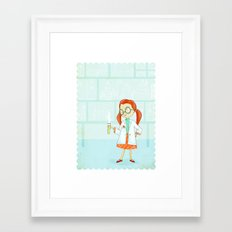 Smartypants Girl #1: Science Girl Framed Art Print