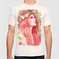 Flowering Mens Fitted Tee Natural SMALL