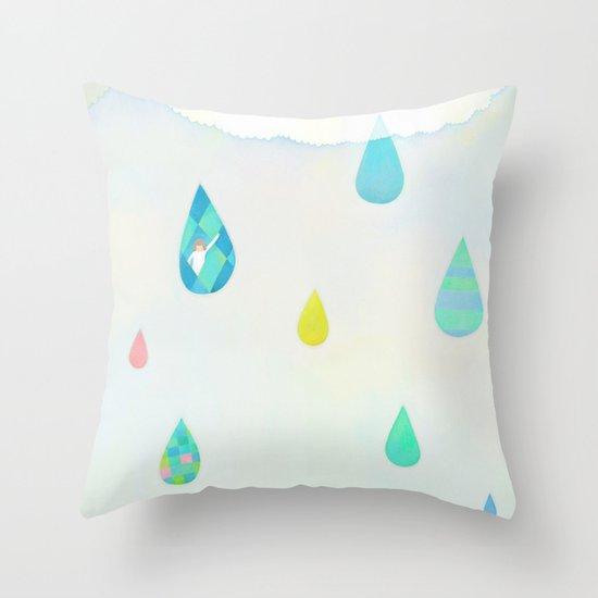 Raindrop Throw Pillow