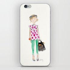 Pink Polka Dots iPhone & iPod Skin