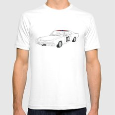 General Lee Mens Fitted Tee White SMALL