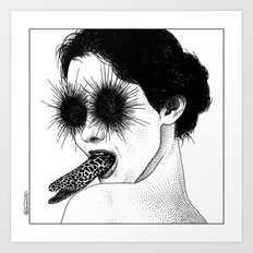 asc 591 - Le regard de la Méduse (The mesmerizing mermaid) Art Print