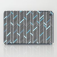 Herringbone Black And Bl… iPad Case