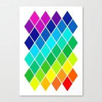 Tetrahedral Rainbow Canvas Print