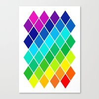 Tetrahedral Rainbow Canvas Print