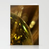 Golden Deco Stationery Cards