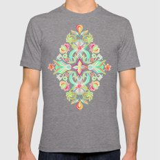 Soft Neon Pastel Boho Pa… Mens Fitted Tee Tri-Grey SMALL