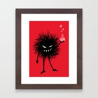 Evil Bug Made A Love Pot… Framed Art Print
