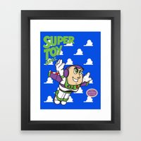 Super Toy Bros. Framed Art Print