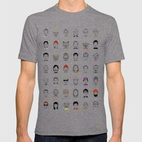 The Characters of W Mens Fitted Tee Tri-Grey SMALL