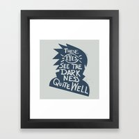 Will of Team 7 [Blue] Framed Art Print