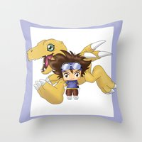 Chibi Tai Throw Pillow