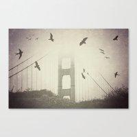 Birds Over the Bridge Canvas Print