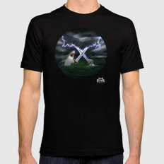 Shark vs. Narwhal  Mens Fitted Tee Black SMALL