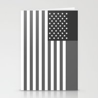 American flag - Gray scale version Stationery Cards