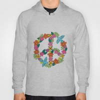 Flower Peace Sign Hoody