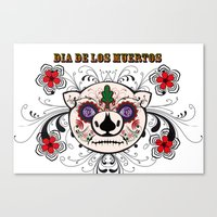 Berto: Dia de los muertos (Day of the dead) Canvas Print