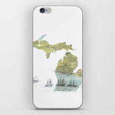 Ships Along the Shore - Michigan circa 1868 iPhone & iPod Skin