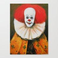 Clown With A Ruffled Collar Canvas Print