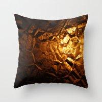 Golden Wrapper Throw Pillow