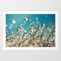 Crazy Cactus Droplets Art Print
