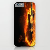 guitar iPhone & iPod Cases featuring Guitar  by wowpeer
