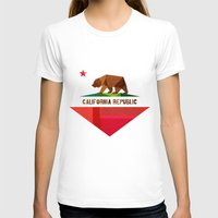 flag T-shirts featuring California by Fimbis
