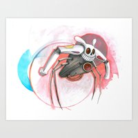 Attack Of The Bunny Bot Art Print