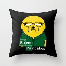Bacon Pancakes Throw Pillow