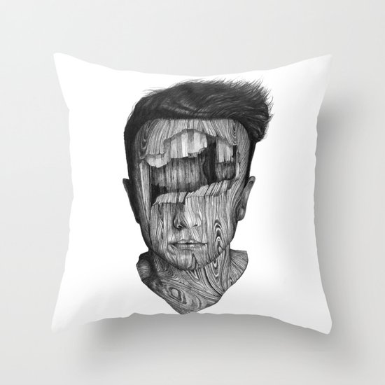 wood kid Throw Pillow