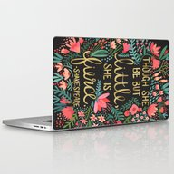 Little & Fierce On Charc… Laptop & iPad Skin