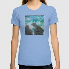 Conversation Womens Fitted Tee Tri-Blue SMALL