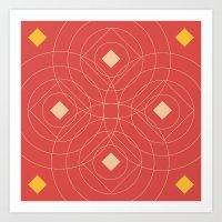 SOUND! Circle Square Pat… Art Print