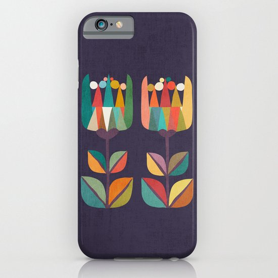 Whimsical Tulip Flower in Bloom iPhone & iPod Case