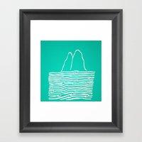 Sea Foam Waves Framed Art Print
