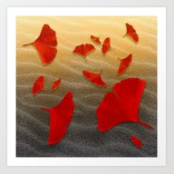 Art Print featuring Red Ginko  by Lindel Caine