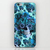 Full circle...Floral ohm skull pattern iPhone & iPod Skin