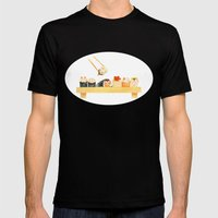 Maki Neko Mens Fitted Tee Black SMALL