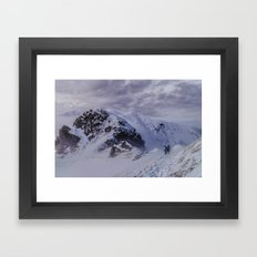 Hiking on top of The World Framed Art Print