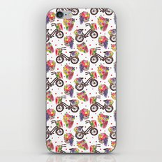 The Vintage Flowers Bike Pattern iPhone & iPod Skin