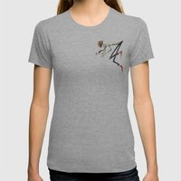 Dancing Dudes Womens Fitted Tee Athletic Grey SMALL