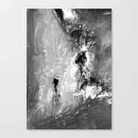 Dream view serie - Waterfall meeting Canvas Print