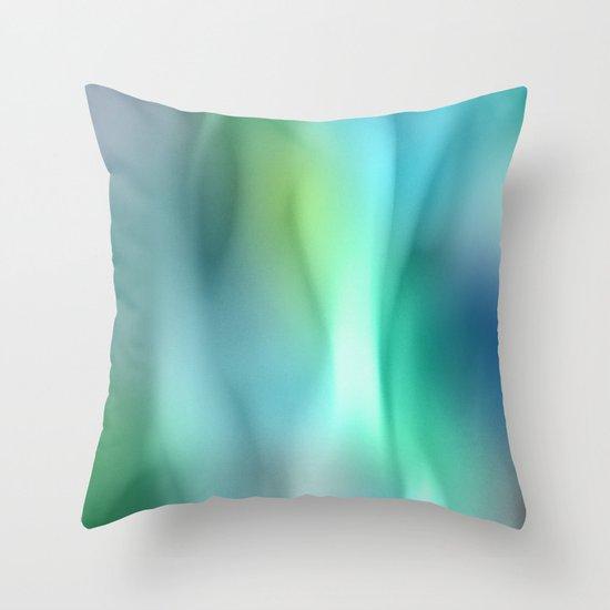 Blue Flame Throw Pillow