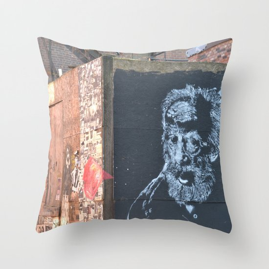 two sides Throw Pillow